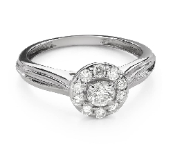 "Engagement ring with brilliant ""Diamond flower 50"""