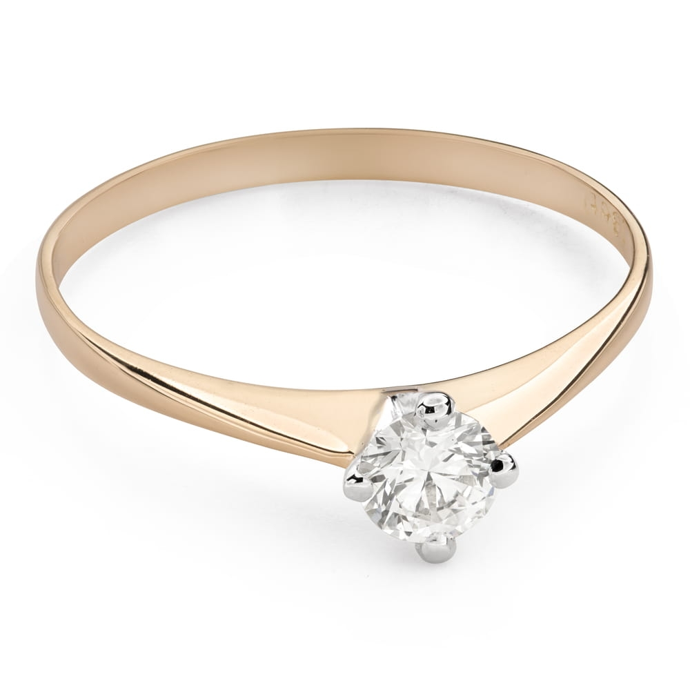 """Engagement ring with brilliant """"The only one 128"""""""