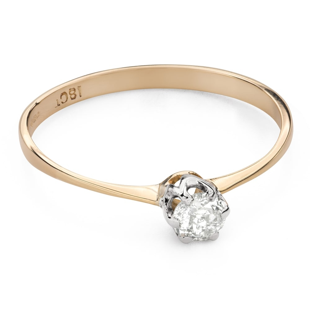 """Engagement ring with diamond """"The only one 129"""""""