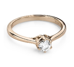 """Engagement ring with brilliant """"Intertwined destinies 59"""""""