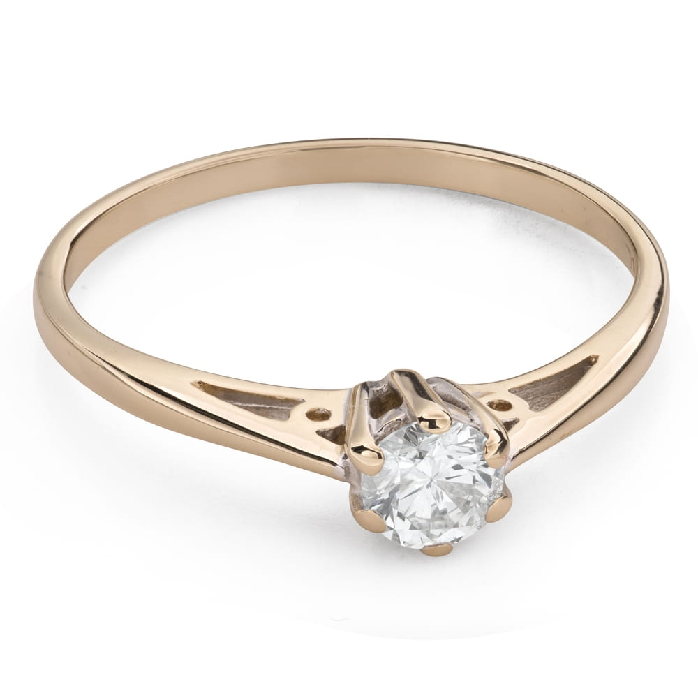 """Engagement ring with brilliant """"The only one 130"""""""