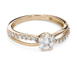 "Engagment ring with brilliants ""Diamond flower 51"""
