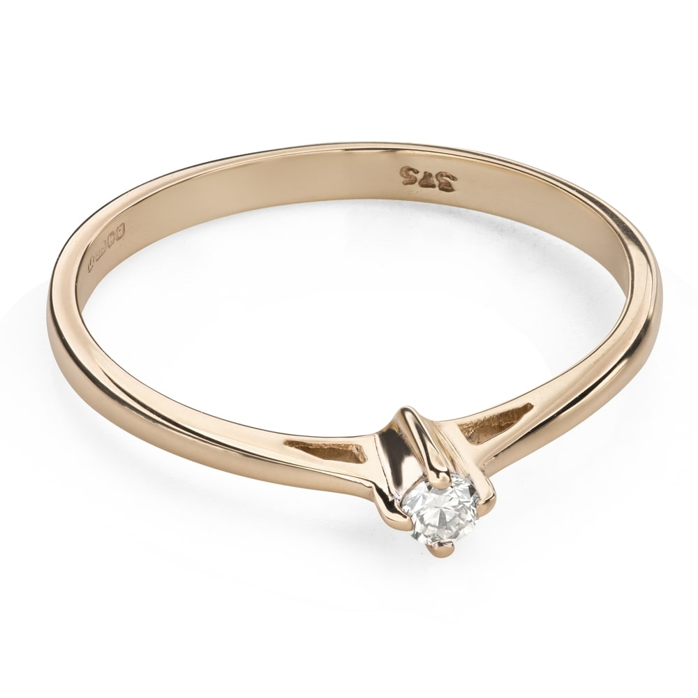 """Engagement ring with brilliant """"Purity 51"""""""