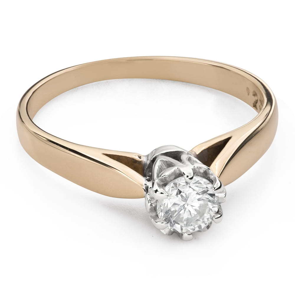 """Engagement ring with brilliant """"The only one 132"""""""