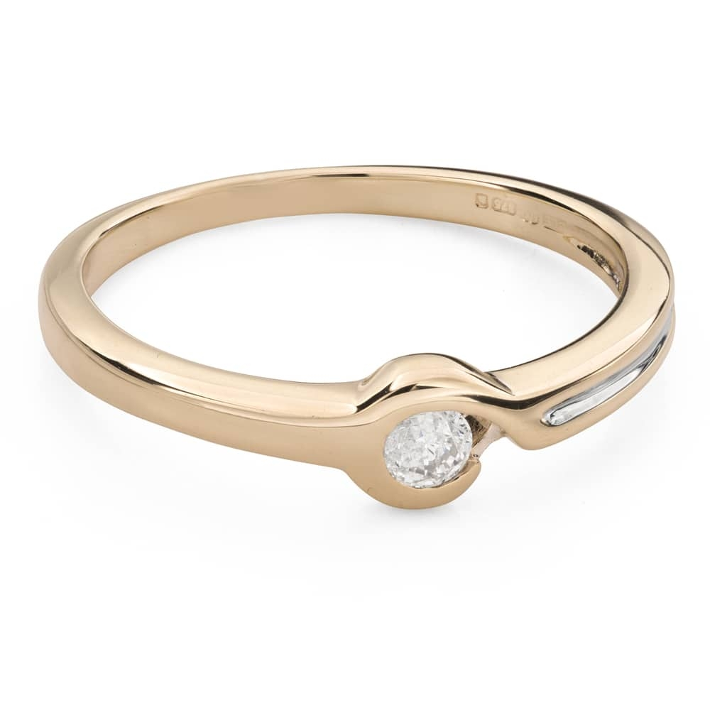 """Engagement ring with brilliant """"Between the rocks 41"""""""