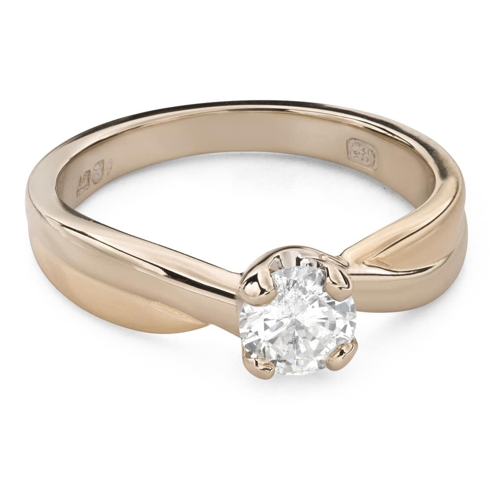 """Engagement ring with brilliant """"Intertwined destinies 60"""""""