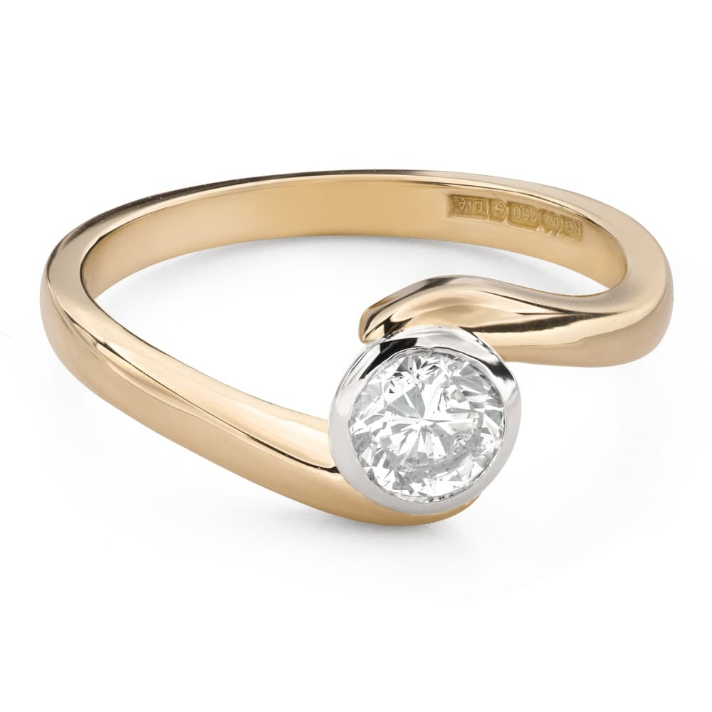 """Engagement ring with brilliant """"Between the rocks 42"""""""
