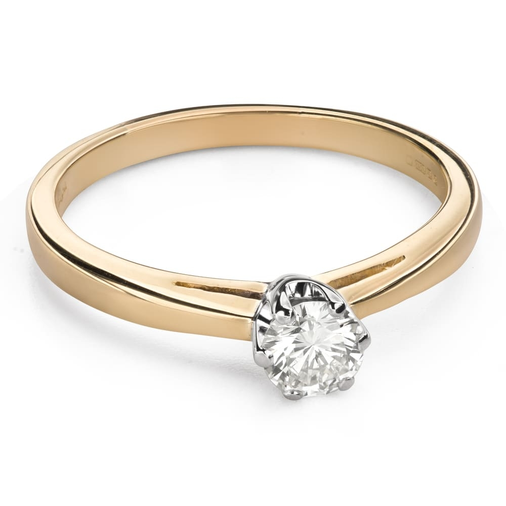 """Engagement ring with brilliant """"Purity 52"""""""