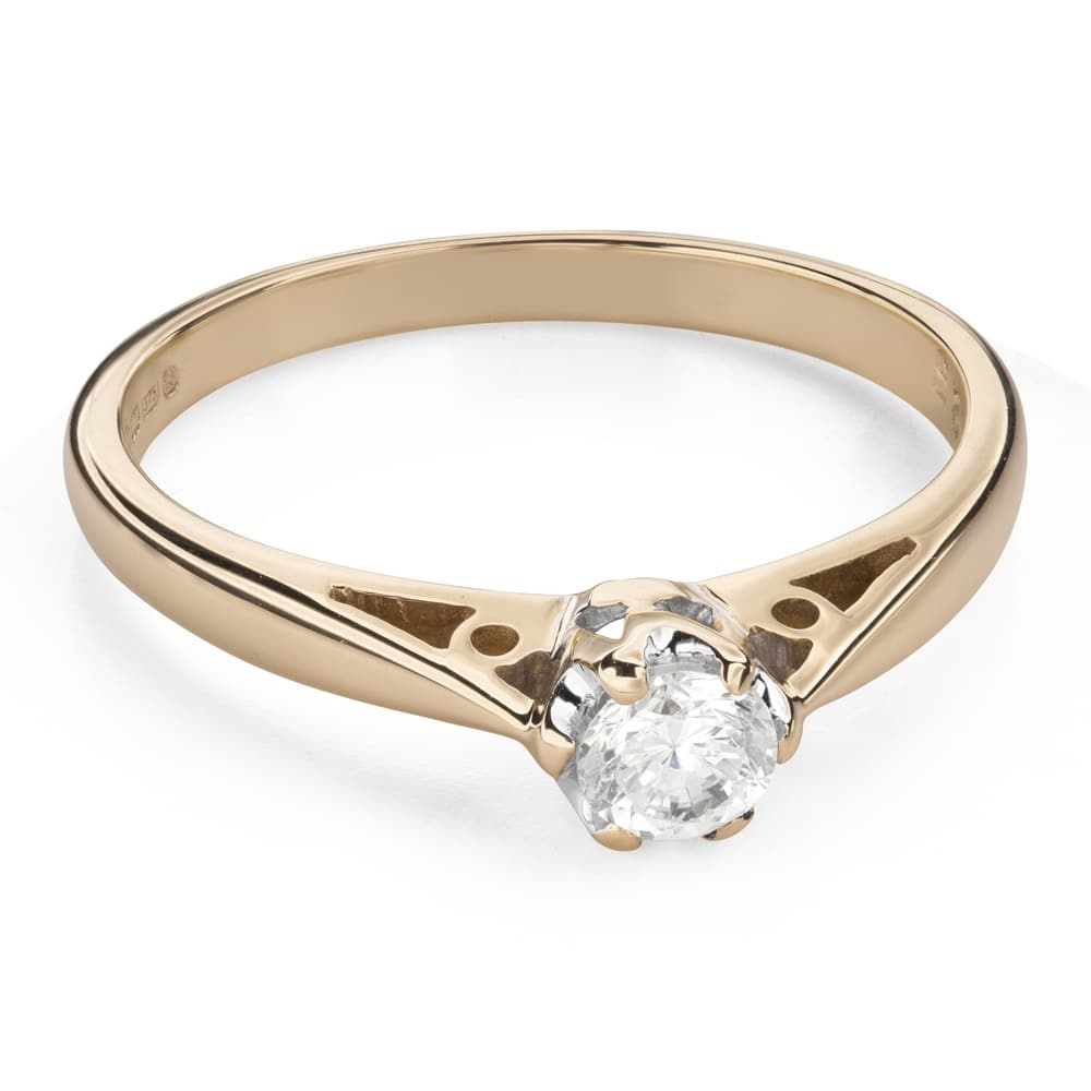 """Engagement ring with brilliant """"The only one 133"""""""