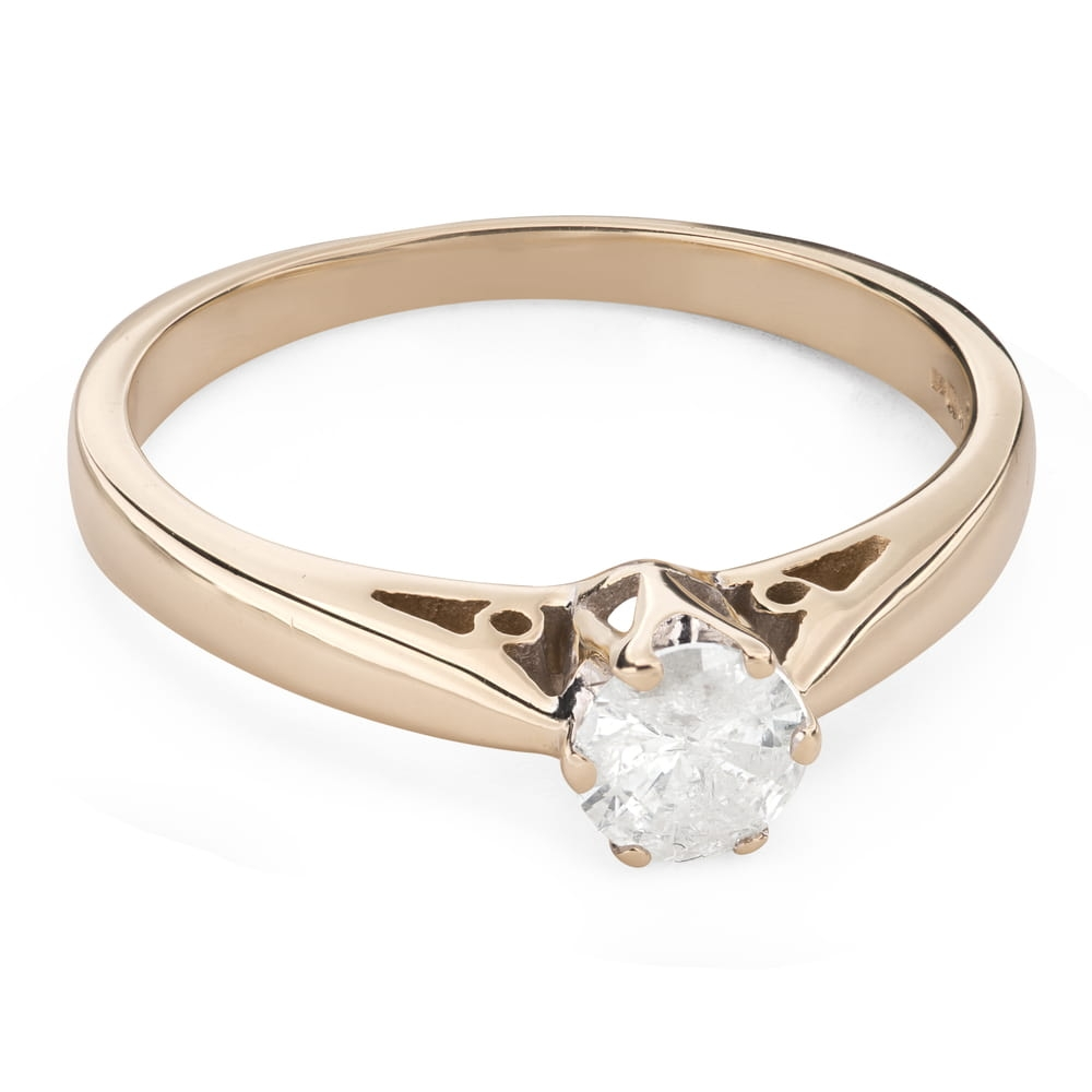 """Engagement ring with brilliant """"The only one 134"""""""