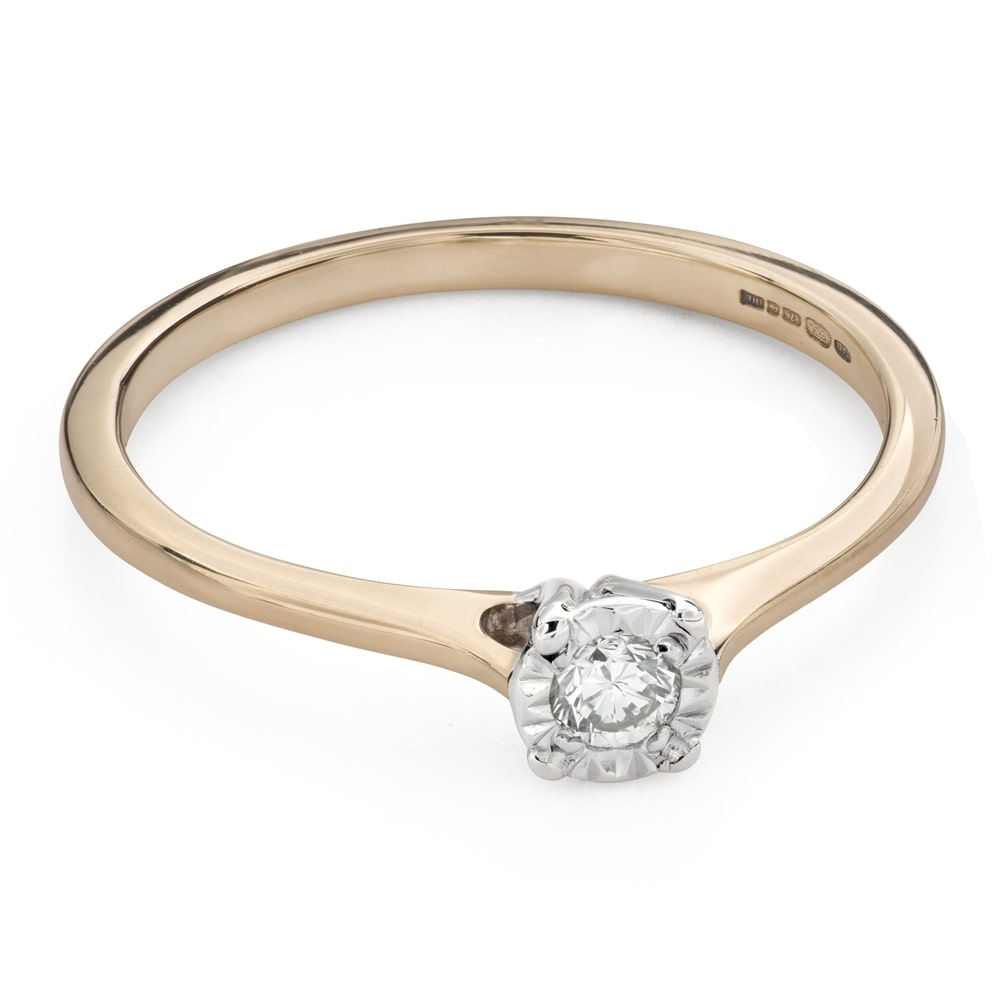 """Engagement ring with brilliant """"Lover 135"""""""