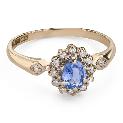 """Engagement ring with gemstones """"Sapphire 36"""""""