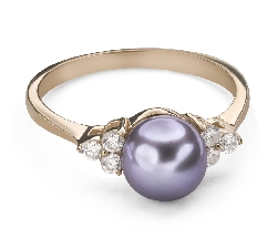 "Engagement ring with gemstones ""Pearl 9"""