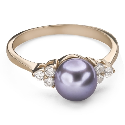 """Engagement ring with gemstones """"Pearl 9"""""""