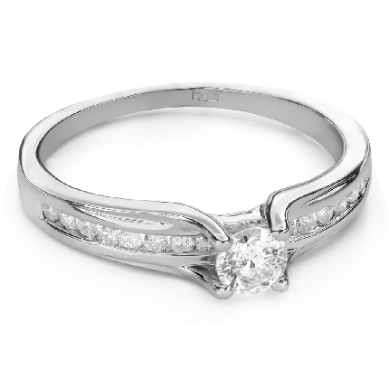 """Engagment ring with brilliants """"Grace 143"""""""