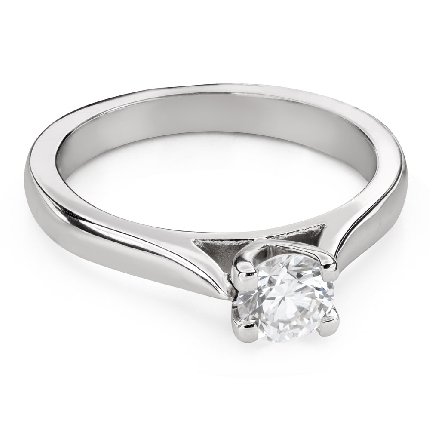 """Engagement ring with brilliant """"Goddess 161"""""""