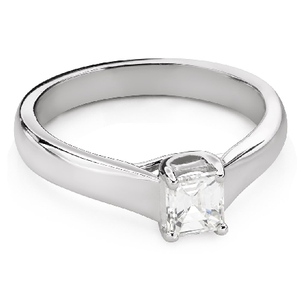 """Engagement ring with diamond """"Intertwined destinies 62"""""""
