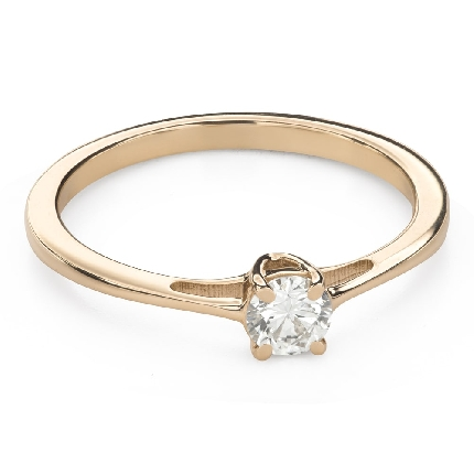 """Engagement ring with brilliant """"Goddess 162"""""""