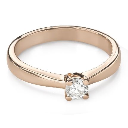 """Engagement ring with brilliant """"Goddess 166"""""""