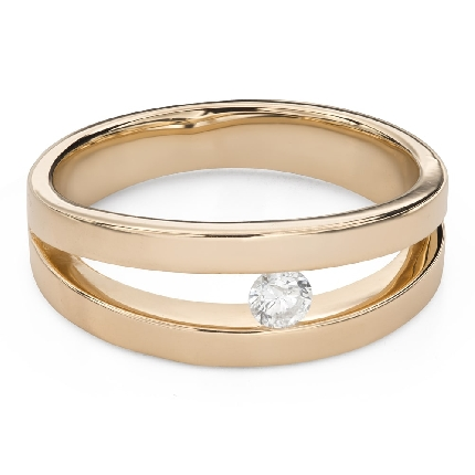 """Engagement ring with brilliant """"Between the rocks 43"""""""