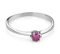 """Engagement ring with gemstones """"Ruby 44"""""""