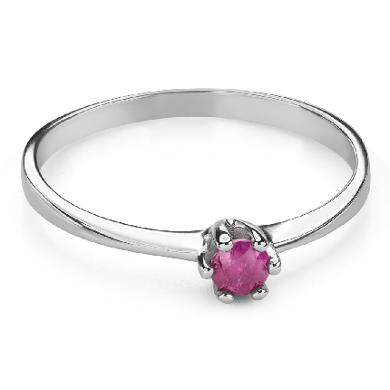 "Engagement ring with gemstones ""Ruby 44"""