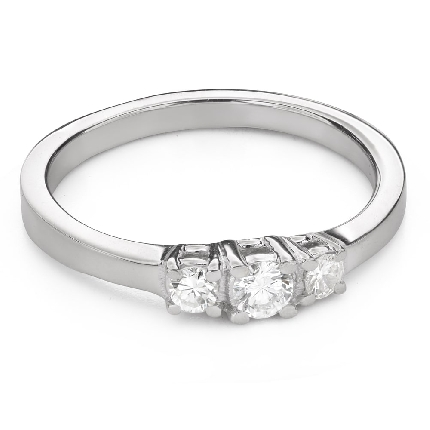 """Engagement ring with diamonds """"Trilogy 43"""""""