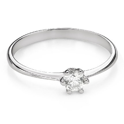 """Engagement ring with brilliant """"The queen 48"""""""