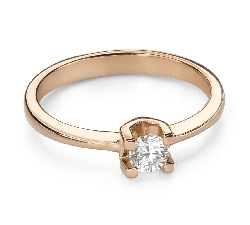 "Engagement ring with brilliant ""Goddess 171"""