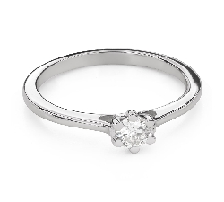 """Engagement ring with brilliant """"Queen of the Heart 28"""""""