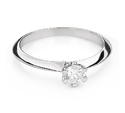 """Engagement ring with brilliant """"The queen 50"""""""