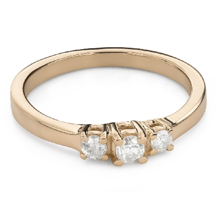 """Engagment ring with brilliants """"Trilogy 45"""""""