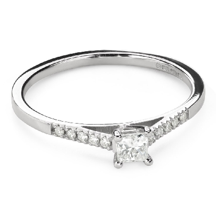 """Engagement ring with diamonds """"Princess 107"""""""