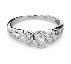 "Engagement ring with diamonds ""Lover 150"""