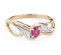 "Engagement ring with gemstones ""Ruby 45"""