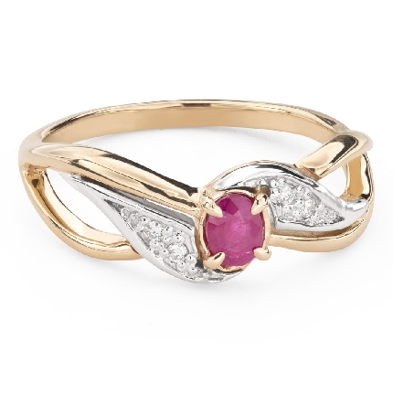 """Engagement ring with gemstones """"Ruby 45"""""""
