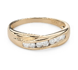 "Engagment ring with brilliants ""Diamond strip 55"""