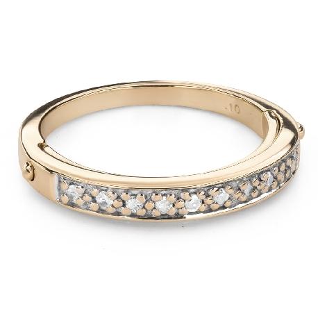 "Engagement ring with diamonds ""Diamond strip 56"""