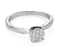 "Engagment ring with brilliants ""Lover 152"""