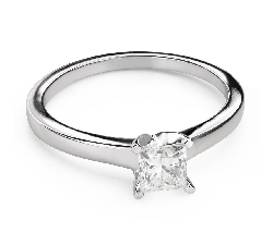 "Engagement ring with diamonds ""Princess 108"""