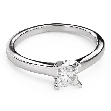 """Engagement ring with diamonds """"Princess 108"""""""