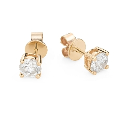 "Gold earrings with brilliants ""Classic 64"""