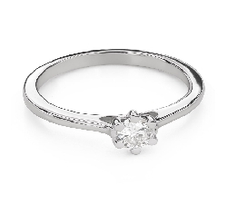 """Engagement ring with brilliant """"Queen of the Heart 29"""""""