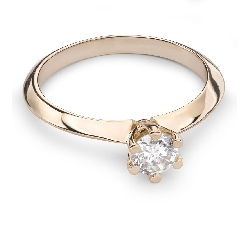 """Engagement ring with brilliant """"The queen 57"""""""