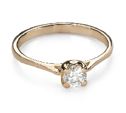 """Engagement ring with brilliant """"Goddess 169"""""""