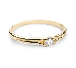 """Engagement ring with brilliant """"Subtle 17"""""""