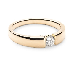 """Engagement ring with brilliant """"Between the rocks 37"""""""