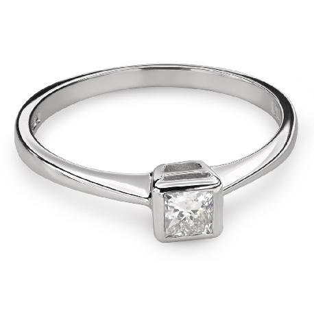 "Engagement ring with diamond ""Princess 80"""