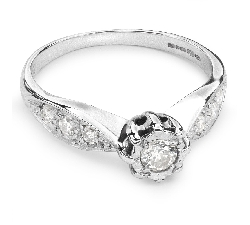 """Engagment ring with brilliants """"Lover 34"""""""