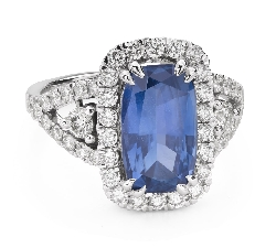 "Engagement ring with gemstones ""Sapphire 36"""